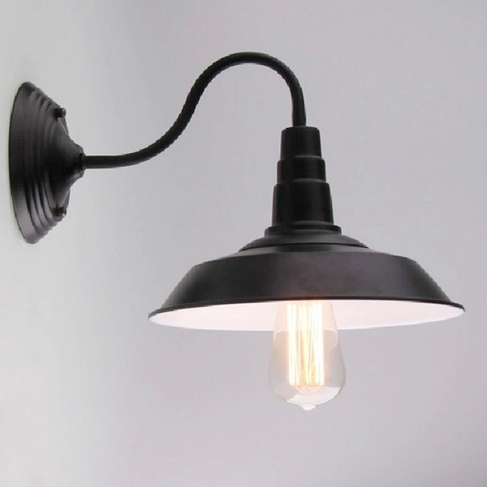 American Rural Cafe Terrace Wall Lamp Industrial Retro Outdoor Wall Lamps Nostalgic Wrought Iron Sconce Balcony Corridor Light europe retro wrought iron wall lamp k9 crystal branch restaurant rural bedroom wall lamp cafe bar coffee shop hall store club