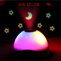 Projection Alarm Clock Despertador Watch Reloj Saat Calendar Clock Colorful Dream Star Dome Projection Clocks Reloj