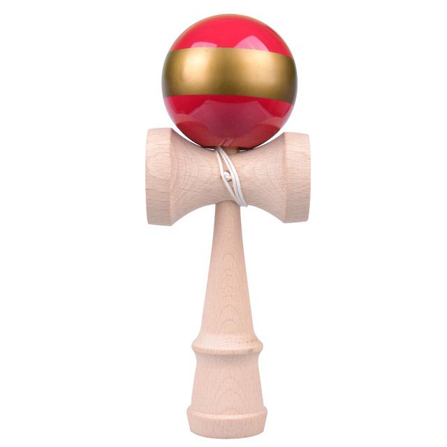 Tamaño grande grande jumbo tipo japonés de madera de haya bola espada kendama juguetes deportivos