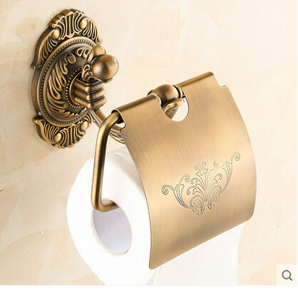 New Elegant Design Antique Brass Bathroom Toilet Paper Holder Wall Mounted Roll Paper Holder Bar with cover духовой шкаф kaiser eh 6365 sp
