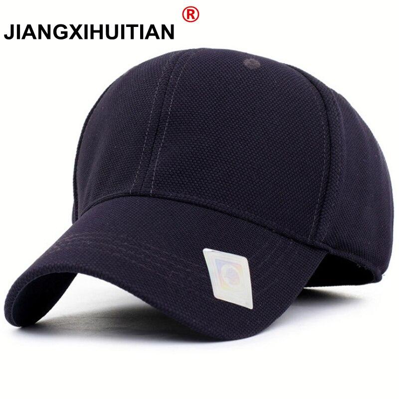36c78cb0f91bb Black Baseball Cap Men Snapback Hats Caps Men Flexfit Fitted Closed Full  Cap Women Gorras Bone Male Trucker Hat Casquette