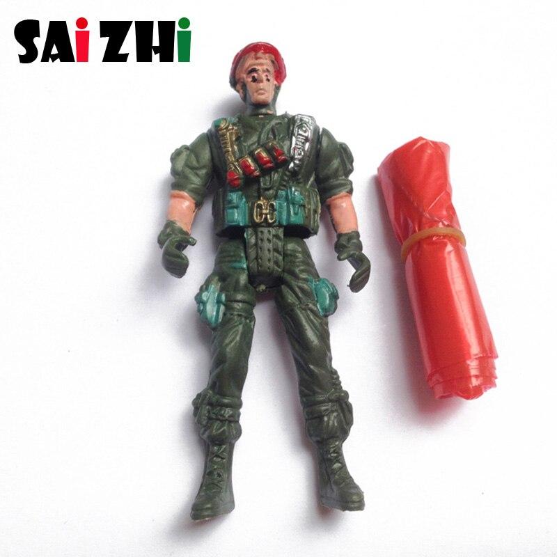 Saizhi Parachute Soldier Toy Outdoor Sports Fun Children Intelligence Development Educational Toys Gift Mini Parachuter Toys
