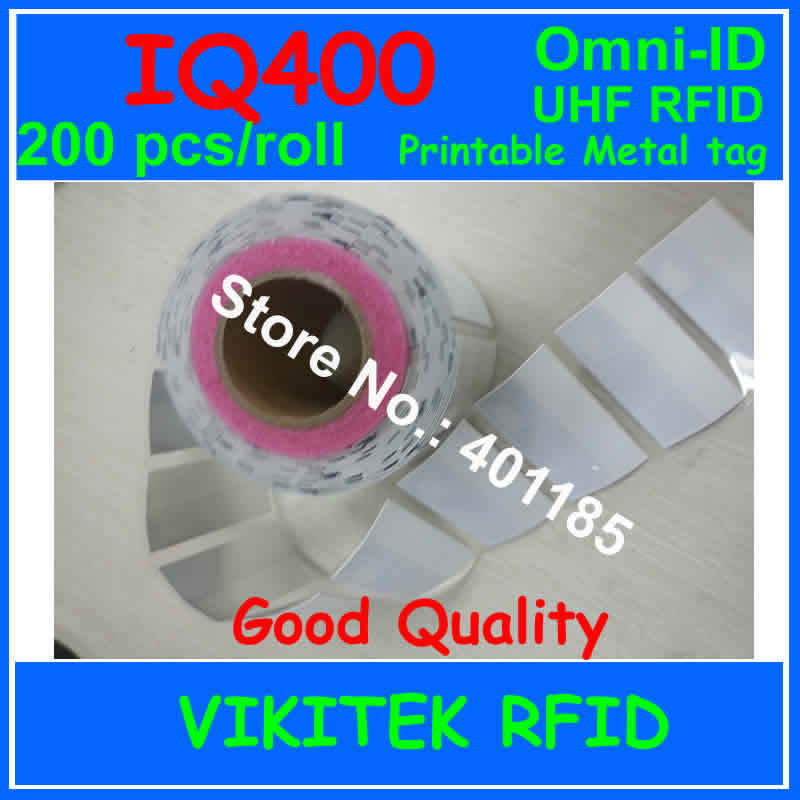 Omni-ID IQ 400 UHF RFID 200 pcs per roll adhesive Ultrathin labels metal tag 915M EPC C1G2 ISO18000-6C IQ400 IT asset tracking удлинитель zoom ecm 3