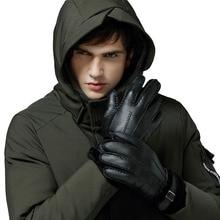 где купить New Men's Warm Gloves 2019 Winter Male Sheep Fur Gloves Motorcycle Cycling Real Leather Waterproof Gloves for Men Classic Mitten по лучшей цене