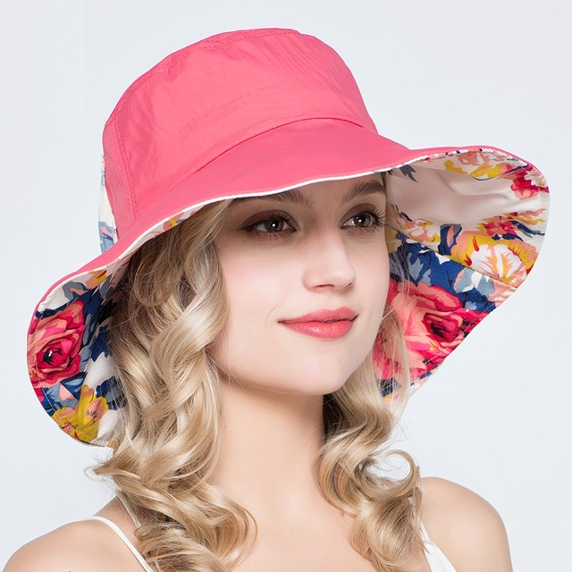 New Arrival Flat Sun Hat Women s Bow Summer Hats for Women Beach Hat 6  Colors Chapeau Femme Boater Sun Cap Folded B-7387 e19e238e56c