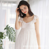 Women Summer sexy bud silk condole belt vest in the sleeping wear Nightgown princess sweet homewear