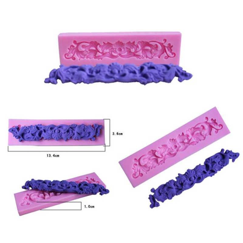 花レースパッドベープラリネレースパッドケーキ型チョコレートクッキー粘土印刷テクスチャパッド
