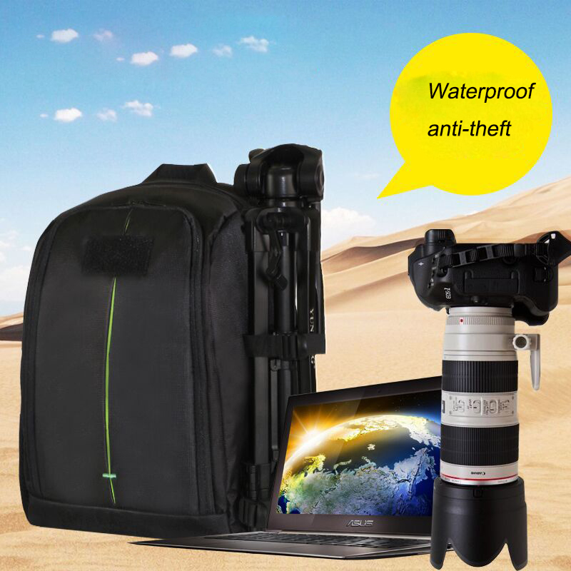 IndepMan DL-B209 Water-resistant DSLR Backpack Camera Video Bag  for Nikon for Sony DSLR Camera Lens
