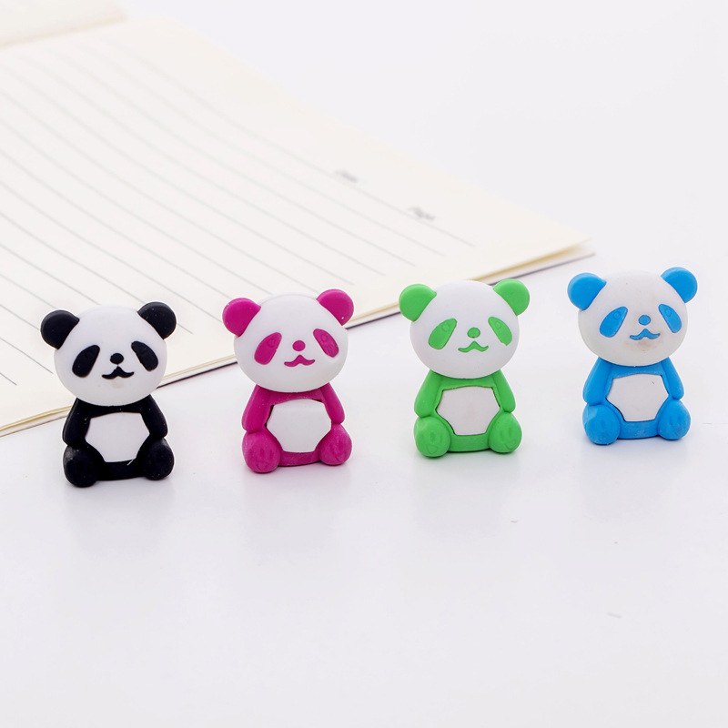 36pc/lot New Panda Model  Animal Rubber Eraser/ Stationery For Children Students/nice Gift Eraser/wholesale
