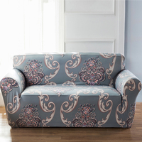 Stretch Sectional Sofa Cover Euporean Pattern Single Two Three Four Seats Soft Slipcovers Elastic Couch Cover
