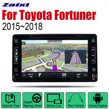 ZaiXi Android Car DVD GPS Navi for Toyota Fortuner 2015~2018 player Navigation WiFi Bluetooth Mulitmedia system audio stereo EQ цена