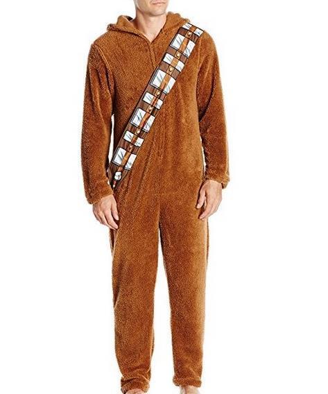 Star wars the force despierta soy chewie chewbacca peludo traje con capucha pijamas pijamas mujeres onesie onesies animales ropa de dormir