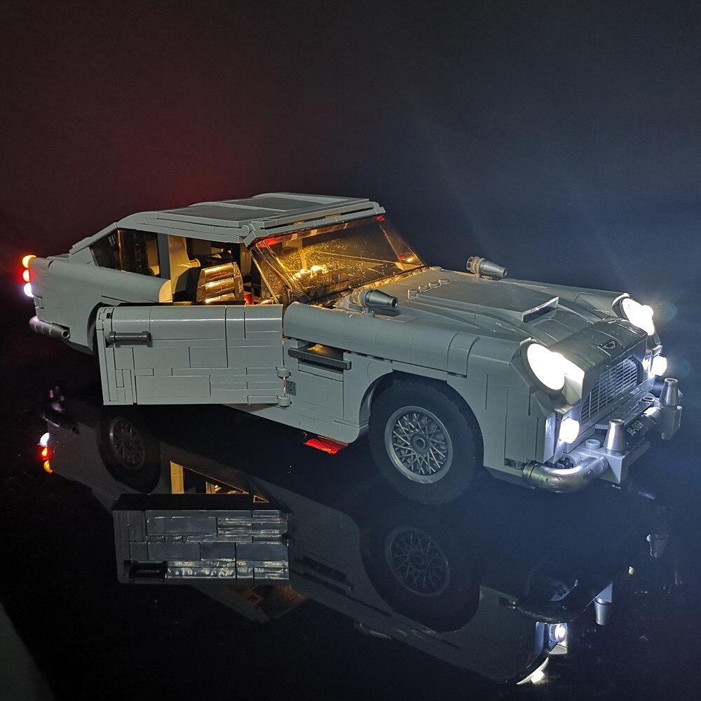 Ha condotto la Luce Kit Per Creator James Bond DB5 auto Compatibile Con 10262 e 21046 (NON Include Il Modello)