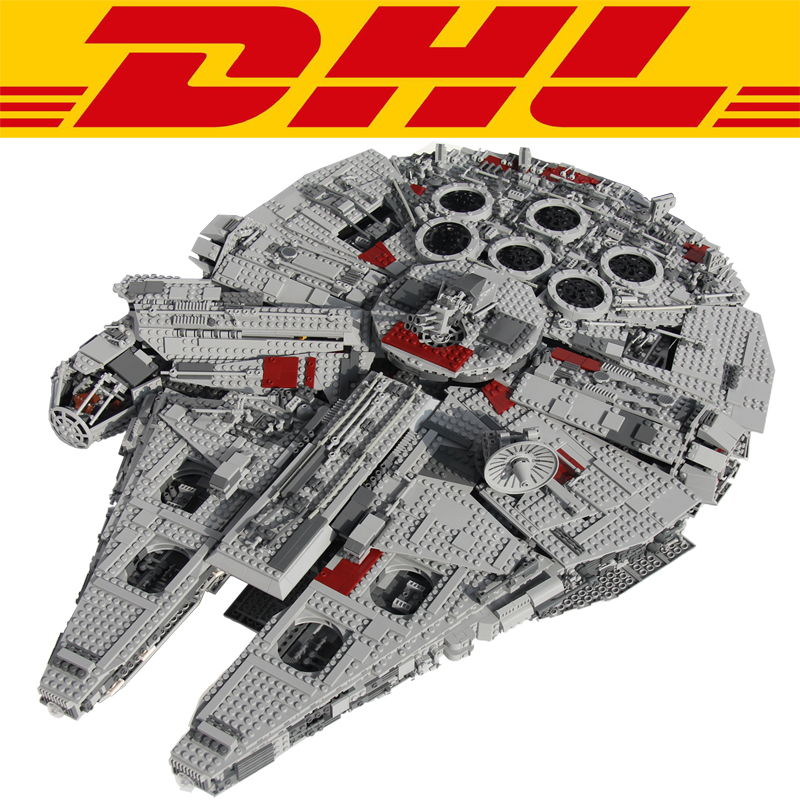 New 5265pcs Star Wars Ultimate Collector's Millennium Falcon Model Building Kits Blocks Bricks Kids Toys Compatible With 10179 lele 5265pcs star wars ultimate collector s millennium falcon model building kits blocks bricks toys for children gift 10179