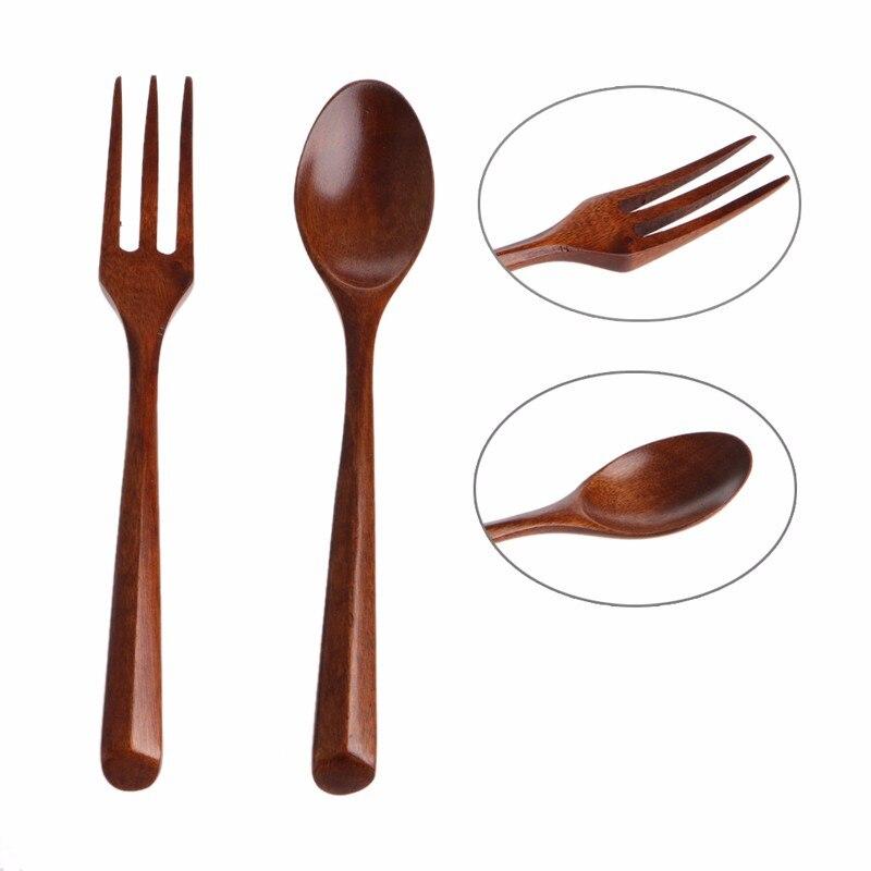 forchetta di legno manico attrezzo della cucina utensile craft cooking casa articoli per la tavola portatile