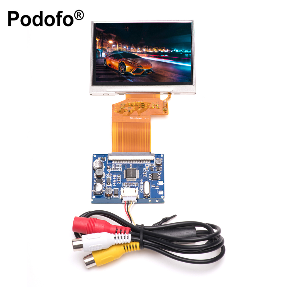 Podofo 3.5 TFT LCD Display RGB LCD Display Module Kit, Monitor Screen for car, Digital Photo Frame Multi-function Car-styling