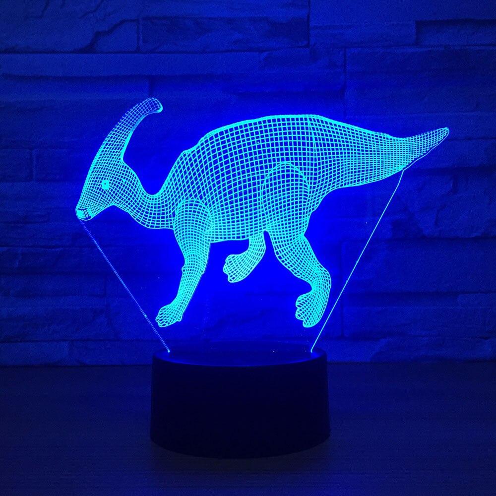 Lights & Lighting Home Decoration 7 Colors Dinosaur Modelling 3d Led Touch Lighting Fixture Vision Pterosaurs Table Lamp Bedside Sleep Night Light