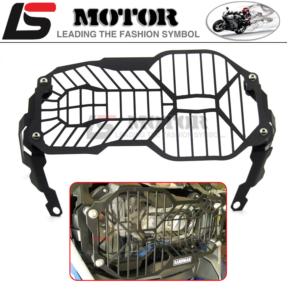ФОТО Hot sales R1200GS Motorcycle Headlight Grill Guard Cover Protector For BMW R1200 GS R1200GS ADV Adventure R1200GS 2012-2016