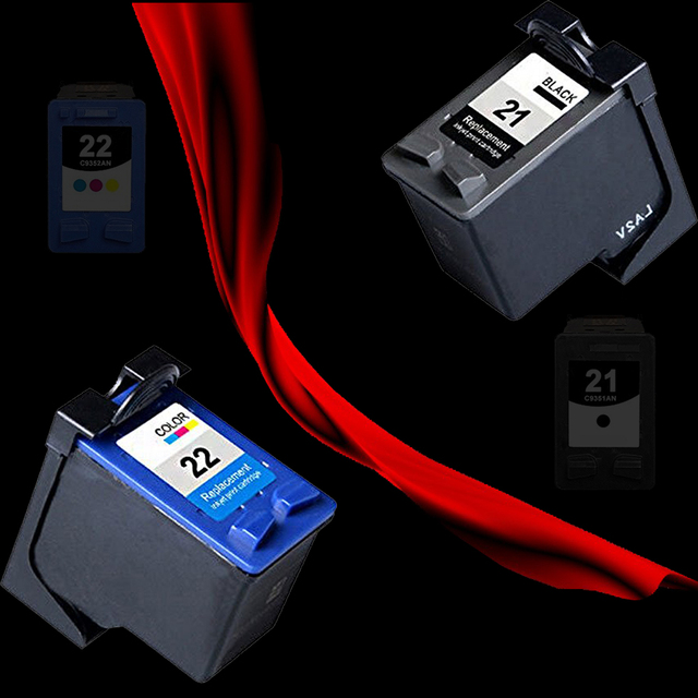 Hot for hp21 & 22 Ink Cartridge For DESKJET 3910 3920  D1311D1320 D1330 D1341 D1360 Cartridge for your printer for hp 21 and 22
