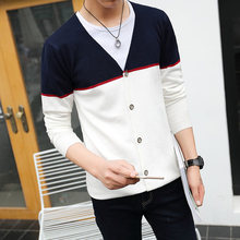 New arrival Spring Men Cardigan Slim Striped Sweater Single Breasted Outwear Brief Cardigan Fashion Casual Male Sweater WL010