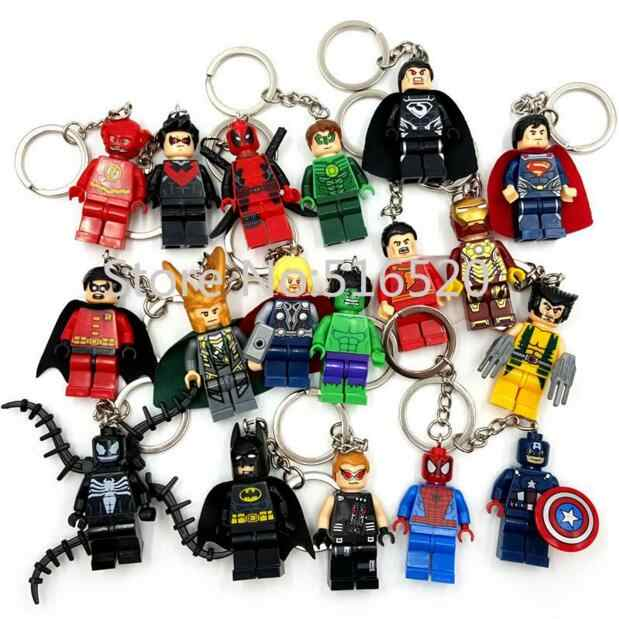 Deadpool Marvel Avengers Capitão América Ironman Spiderman Batman Superman Darth Vader Keychain Mini figura