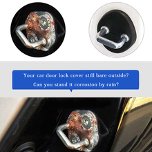 Door Lock and Stop Cover Case Protection – Black