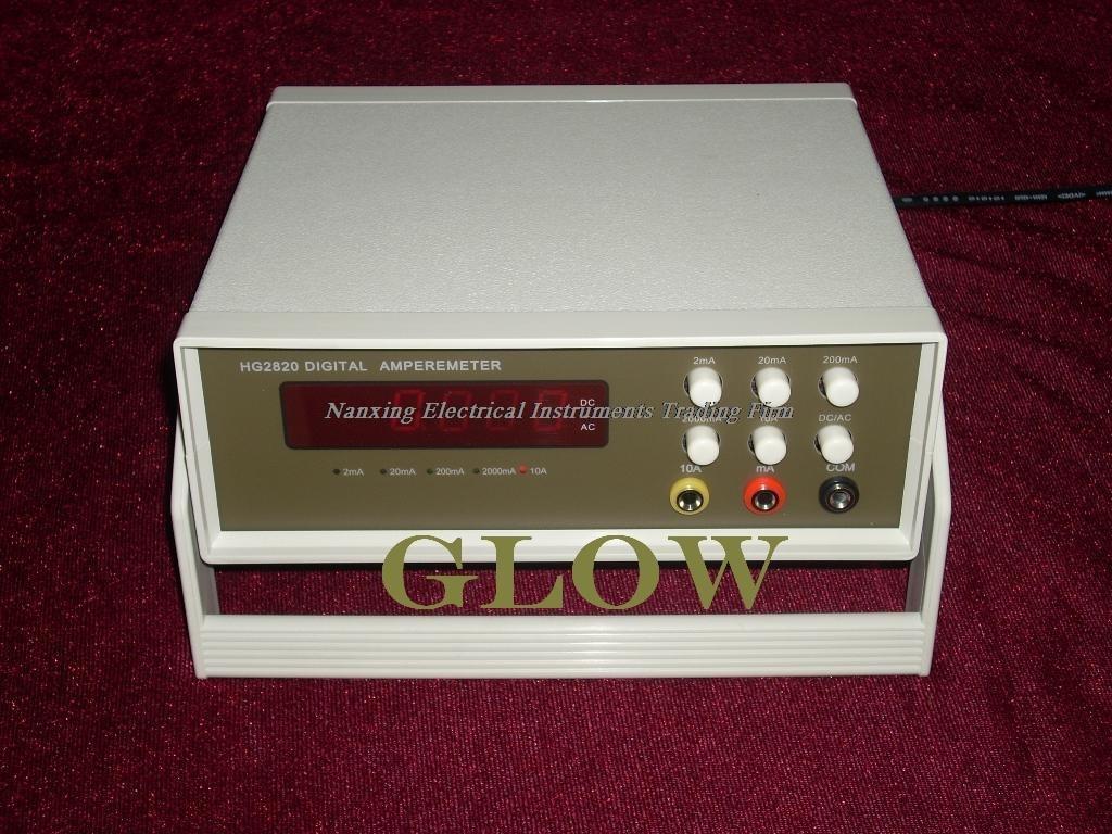 Snelle aankomst Desktop GLOW28210 4 1/2 digitale AC/DC stroom tester, mA huidige tester 2mA/20mA/200mA/2000mA/10A
