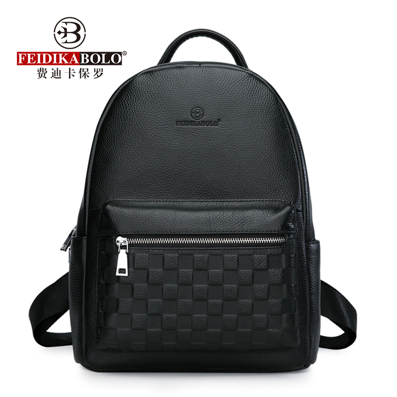 6f888d3c1cfe Genuine Leather Men s Backpack Fashion Cow Leather Backpacks College School  Men Bag Fashion Black Large-