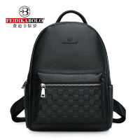 Genuine Leather Men's Backpack Fashion Cow Leather Backpacks College School Men Bag Fashion Black Large Capacity Travel Backpack