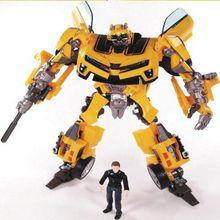 Anime Transformation Robot Bumblebee et Sam figurines jouets Brinquedos Robots figurines classique juguetes enfants des jouets