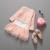 2017 niños del otoño del resorte muchachas de los niños de princesa dress traje de manga larga de encaje escudo + burbuja falda dress 2 unids moda outfit set 3-7y
