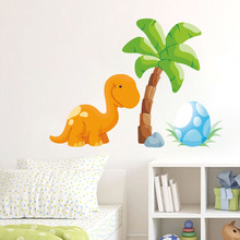 Cute 3D Cartoon Animal Dinosaurs Stickers Kids Girl Boy Decals Waterproof Art Mural Vinyl Interesting Wall Art Diy Home Decor