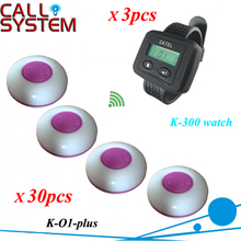 Customer service number waiter server 3 watches wrist w 30pcs table transmitter DHL/EMS