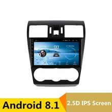 9 «2.5D IPS Android 8,1 DVD мультимедиа плеер gps для Subaru Forester XV WRX 2012 2014-2016 аудио радио стерео навигации