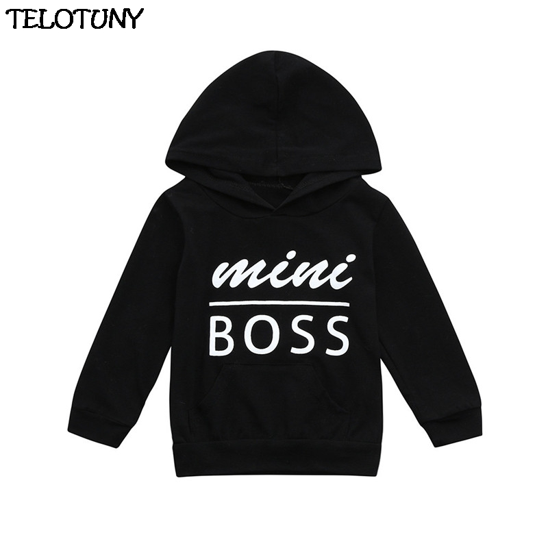 TELOTUNY Clothes Cotton Toddler Baby Boys Girls Hoodies