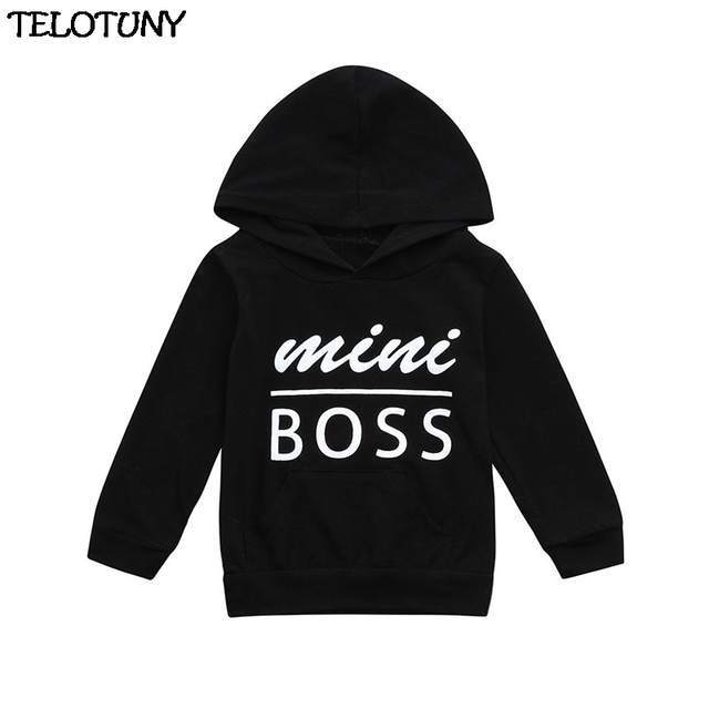 TELOTUNY Baby Clothes Cotton Toddler Baby Boys Girls Hooded Sweatshirts Infant Letter Blouse Hoodies Tops      Y120830