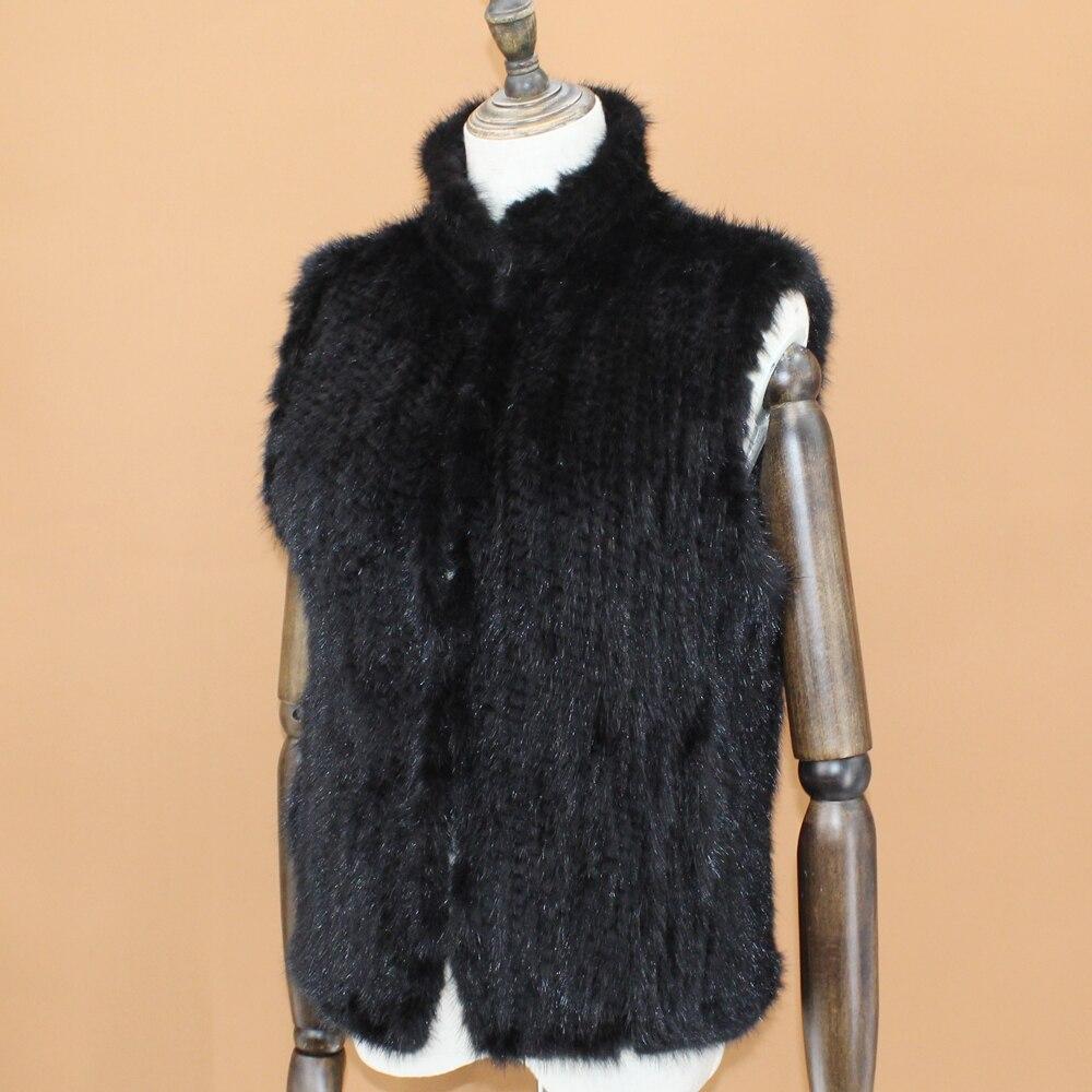 Automne Gratuite De Tricoté Vente Mode Color Vison Gilet Printemps Manteau Chaude Fourrure Gilet Noir Livraison Couleur Femmes AZZqxtP