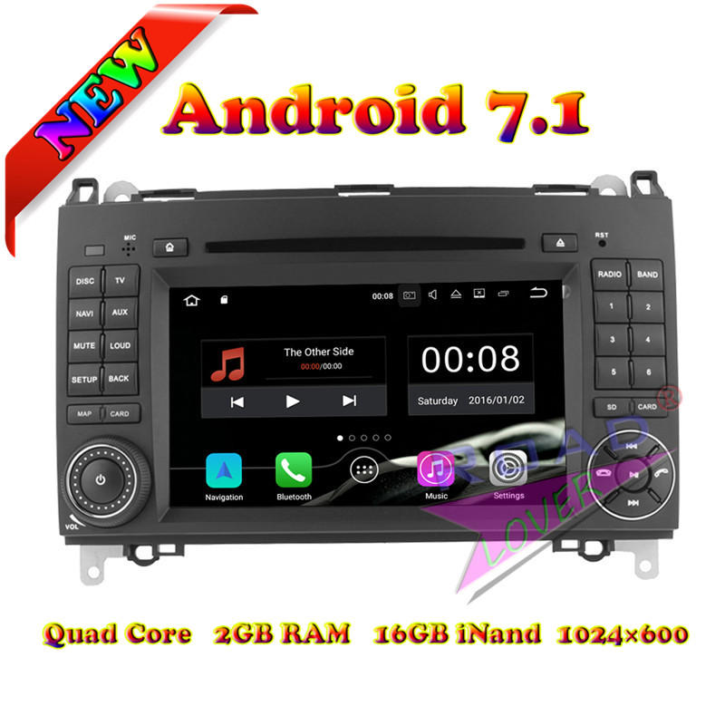 Wanusual 2G+16GB Android 7.1 Car DVD Player For Mercedes Benz Viano/Vito(W639)/Sprinter/W906/W209/W311/W315/W318 Stereo GPS Navi