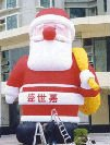 inflatable cartoon Santa Claus and clown for Christmas celebration or advertising event inflatable cartoon customized advertising giant christmas inflatable santa claus for christmas outdoor decoration