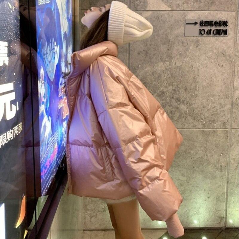 Bubble Coat Kawaii Pink Down Jacket Lolita Zipper Womens Down Jackets Winter Coat Women Spandex Puffy Jacket Warm Winter Down in Parkas from Women 39 s Clothing