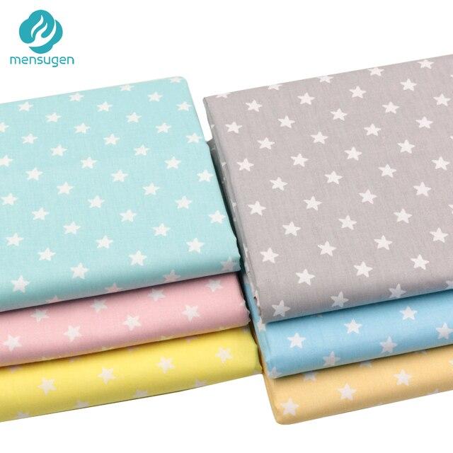 Mensugen Nhiều Màu Sao 100% Cotton Twill Vải cho Chắp Vá Quilting Gối Gối Bé Trải Giường May Chất Liệu Vải