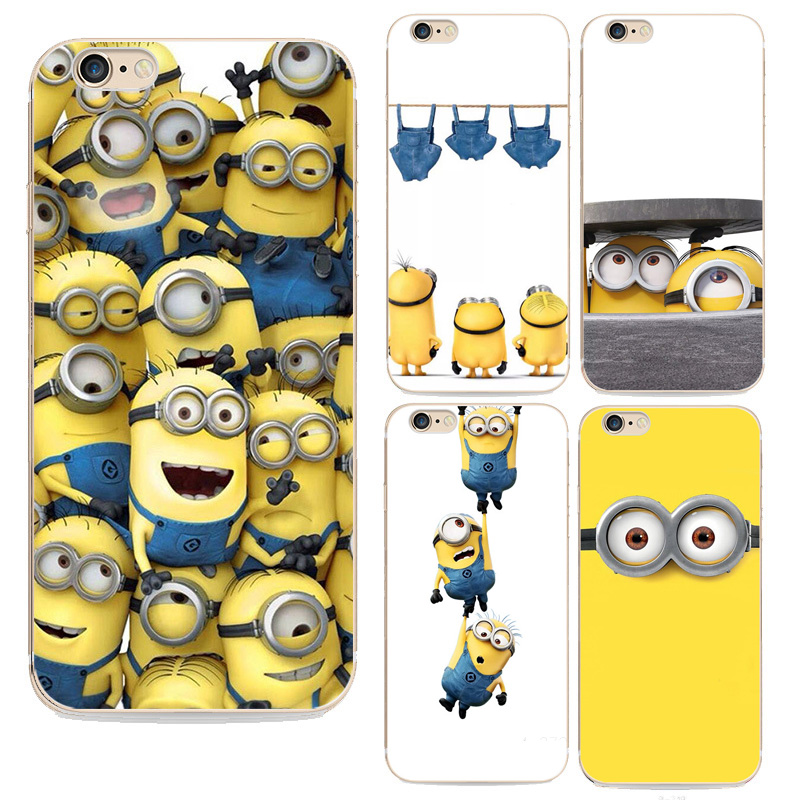 pretty nice 937d6 3b9f2 US $1.99 |New For Iphone6 Cases Fashion Despicable Me Yellow Minion Design  Silicone Case For Apple Iphone 6 6s Cover Free Shipping-in Fitted Cases ...