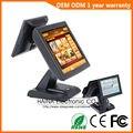 Haina Touch 15 pulgadas pantalla táctil sistema POS restaurante pantalla Dual máquina POS con lector de tarjetas