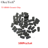 Okeytech 100Pcs Lot For Car Key Cemamic T5 Chip Copy To ID 11 12 13 33