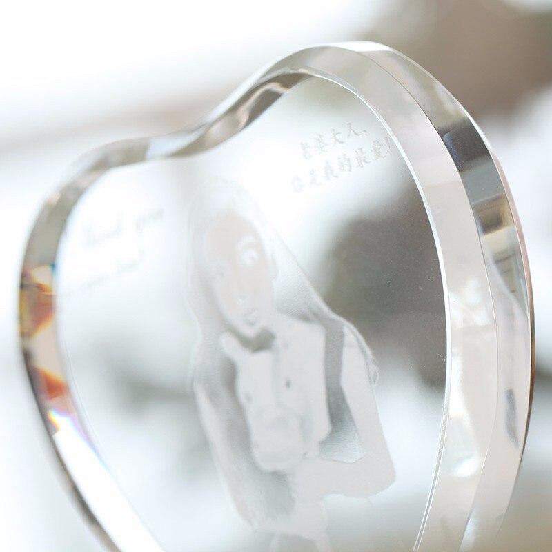 XINTOU cristal del corazón marco de fotos personalizado 2D/3D ...