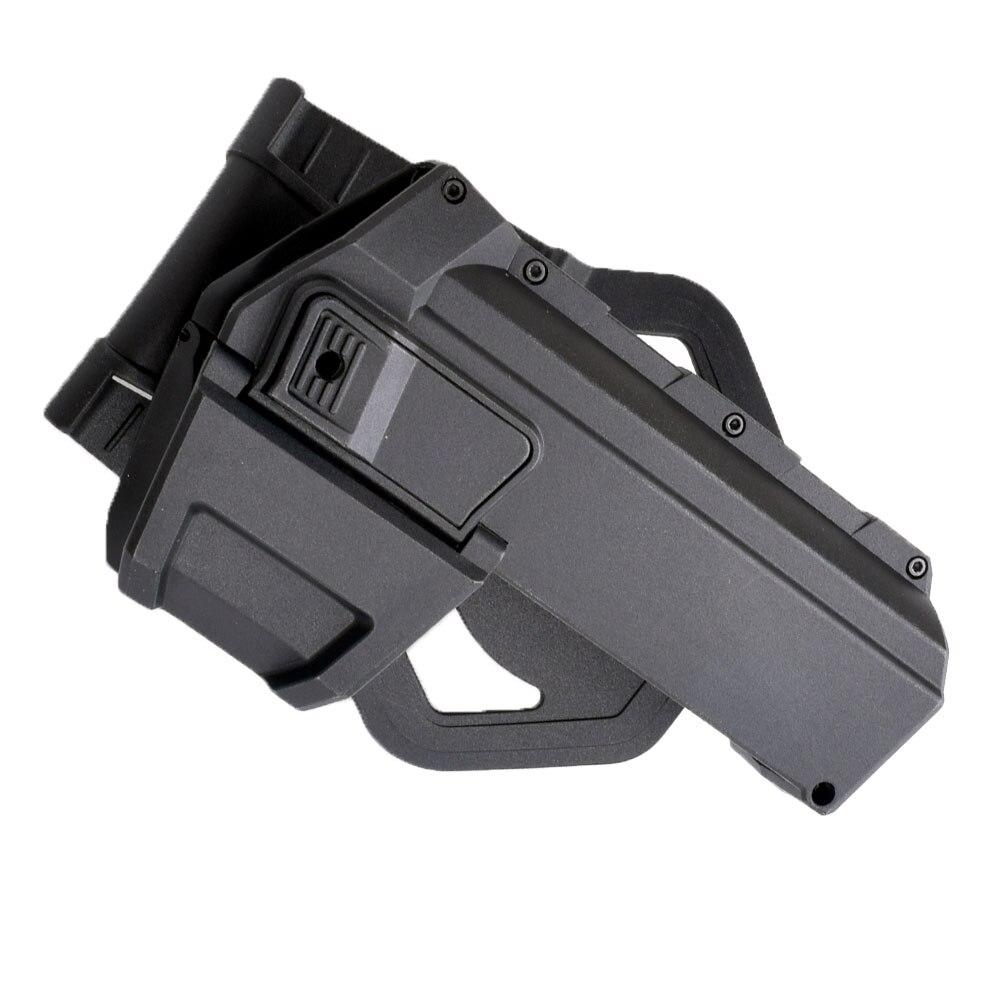 WIPSON táctico móvil pistola fundas para G17 G18 con linterna o láser montado Glock serie mano derecha cintura funda de pistola