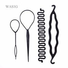 4 sztuk/zestaw magia zaplatanie włosów Twist Curler stylizacja zestaw szpilka gospodarstwa włosów Braiders Pull szpilka do włosów kucyk narzędzie do majsterkowania