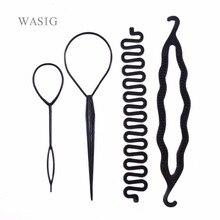 4 teile/satz Magie Haar Flechten Twist Curler Styling Set Haarnadel Halten Haar Flechter Pull Haare Nadel Pferdeschwanz DIY Werkzeug