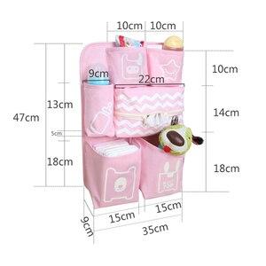 Image 5 - Baby Crib Organizer Newborn Diaper Stacker Stroller Bag Bottle Holder Storage Infant Baby Items Baby Bedding Set Accessories