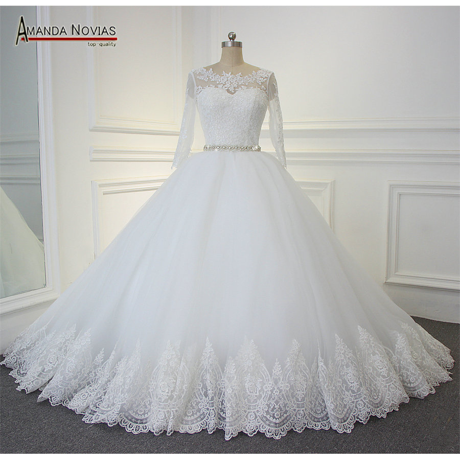Buy vintage 100 actual photos ball gown for Wedding dress for less than 100
